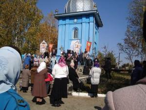 14 жовтня 2014 року біля каплиці зібралося немало люду